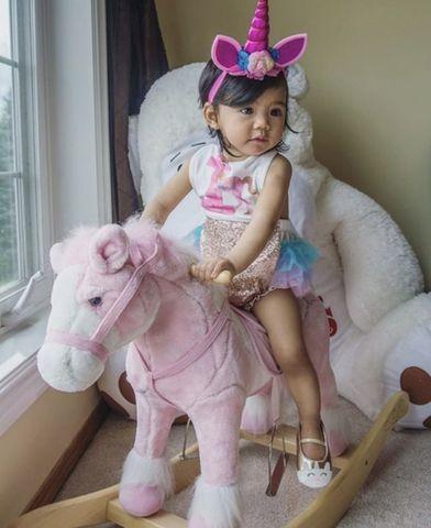 Colorful First Birthday Unicorn Tutu Romper  *Original Kryssi Kouture Design Exc…