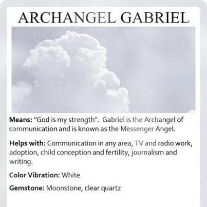 Archangel Gabriel #angel #light #love www.angelcardreadingsforyou.com
