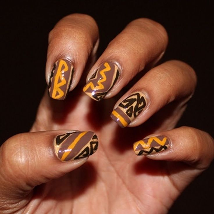 African Nail Art: 45 Best African Print NAILS Images On Pinterest