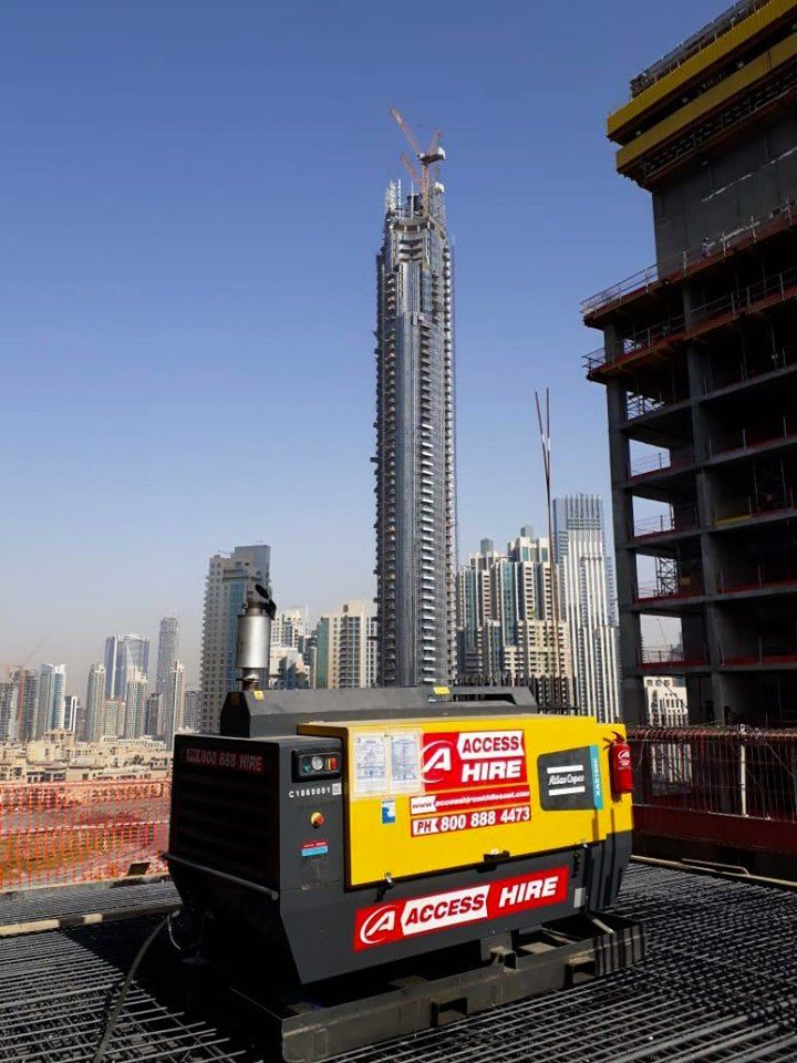 Industrial Air Compressor Hire & Rental Middle east, Air