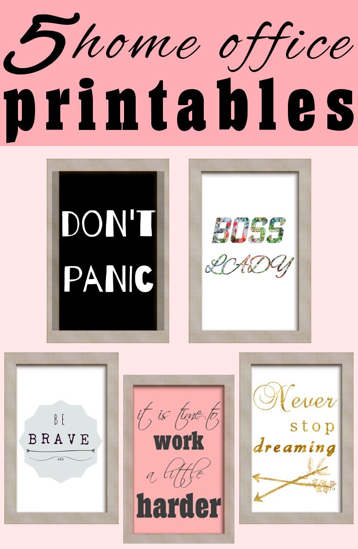 5 Awesome office printables wall arts. Instant download and ready to print. Motivational and inspirational quotes and arts.