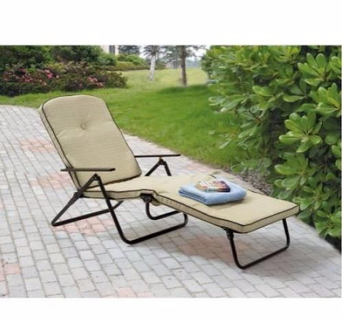 Patio-Chaise-Lounge-Outdoor-Chair-Folding-Furniture-Pool-Relaxer-Deck-Padded-New