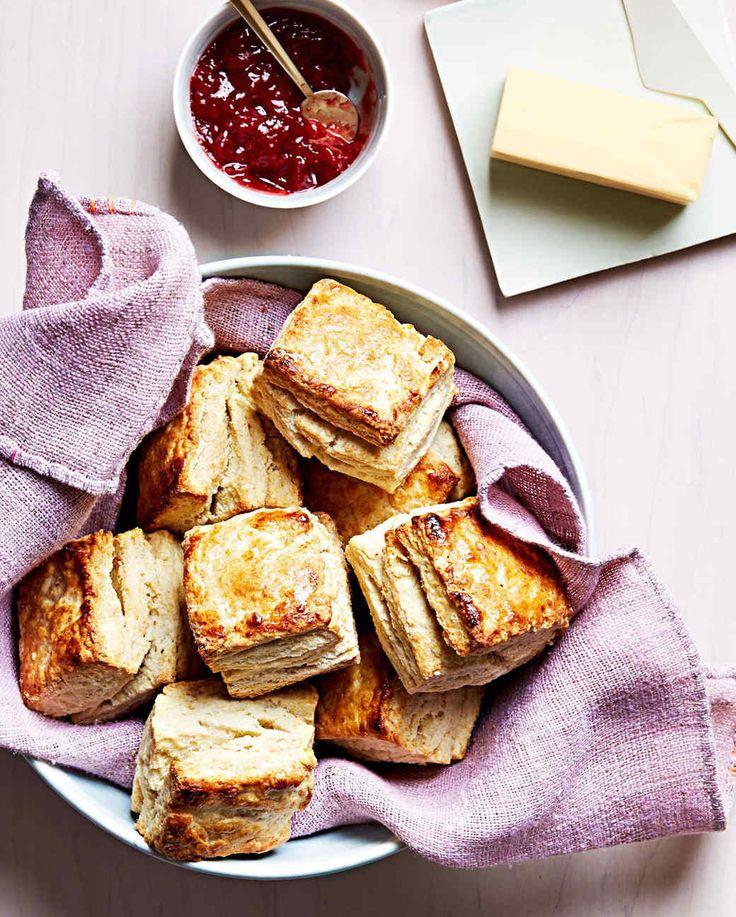 classic buttermilk biscuits with jam butter Martha Stewart