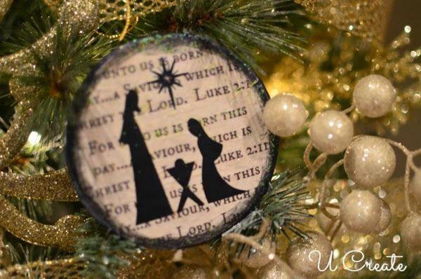 Nativity Ornament Tutorial {free printable, too}