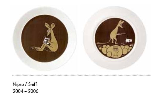 Nipsu ruokalautanen (2puoleisella kuvalla)