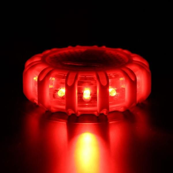 Industrial Grade Road Flares High Quality Rubber Coated Magnetic Road Flare Emergency Lights Comes W Led Warning Lights Warning Lights Emergency Lighting