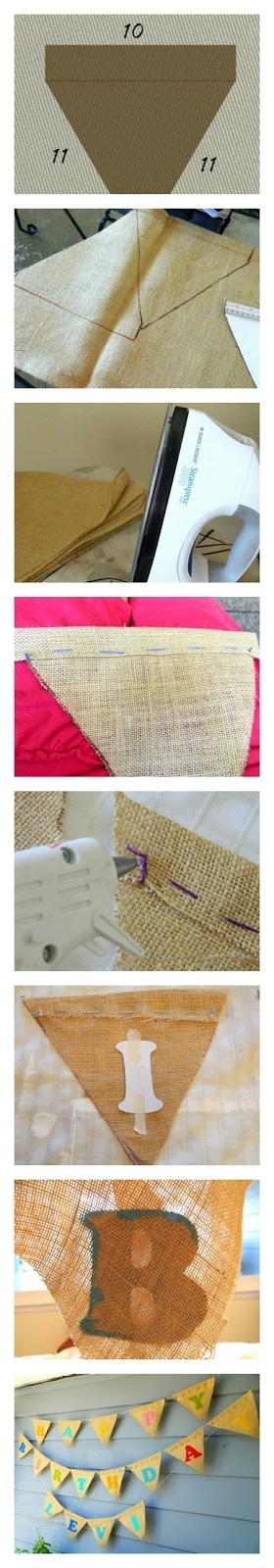 DIY Burlap Pendant Banner @Megan Tyson you should do this!