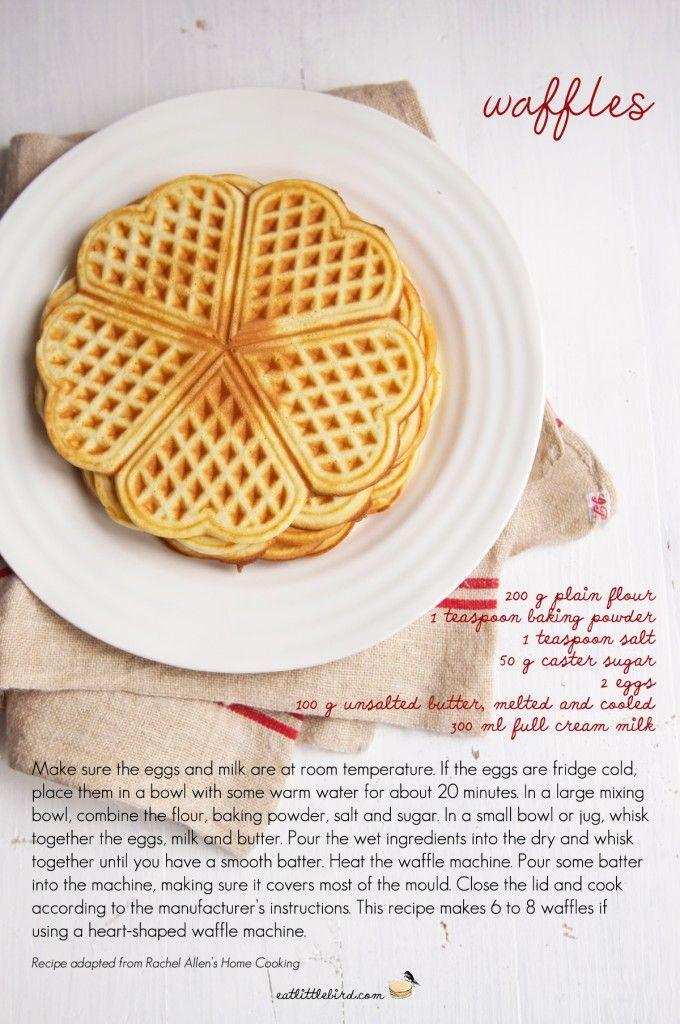 Waffles. Recipe by Rachel Allen