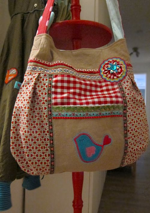 "Bolso        I FREAKIN"" LOVE THIS! I gotta make it ! The same colors,applique & all."