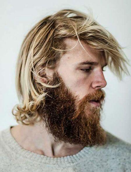 Unordentliches Haar, Lang, Männer, Hunnam, Charlie, Blondine, Bart, Barba