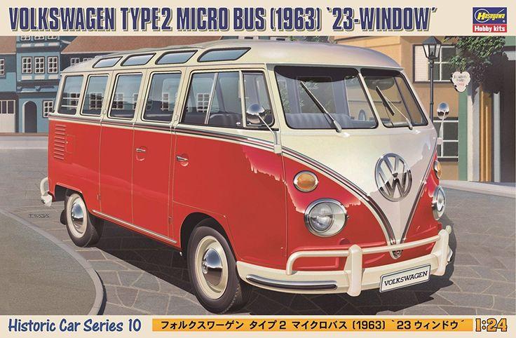 Amazon   ハセガワ 1/24 フォルクスワーゲン タイプ2 マイクロバス 23 ウィンドウ プラモデル HC10   プラモデル 通販