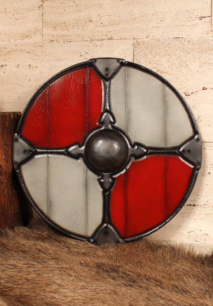 Gaelic Collection Rundschild rot/weiß Maße:  Durchmesser: Ø 70cm  Gewicht:  1,20kg  Material:  Polyäthylen Über dieses Produkt: Forgotten Dreams Produkte zeichnen sich durch überragende Qualität aus, die durch Leidenschaft,...