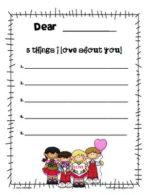 Valentines day writing activities for 2nd grade