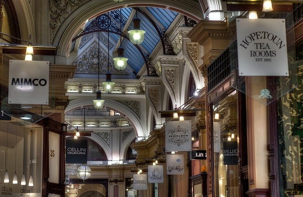 The Block Arcade attracts locals and tourists with it's beautiful shop fronts and a mix of food and fashion on offer.