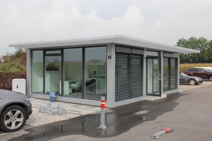 Verkaufspavillon mit passivem Sonnenschutz, Autohaus Simon Gruber