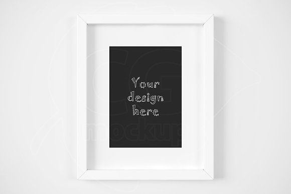 White matted frame 5x7 inch mockup by CGmockup on @creativemarket