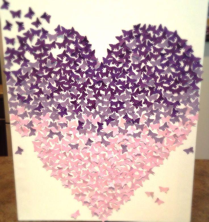 Purple Nursery Decor Little Card Stock Butterflies