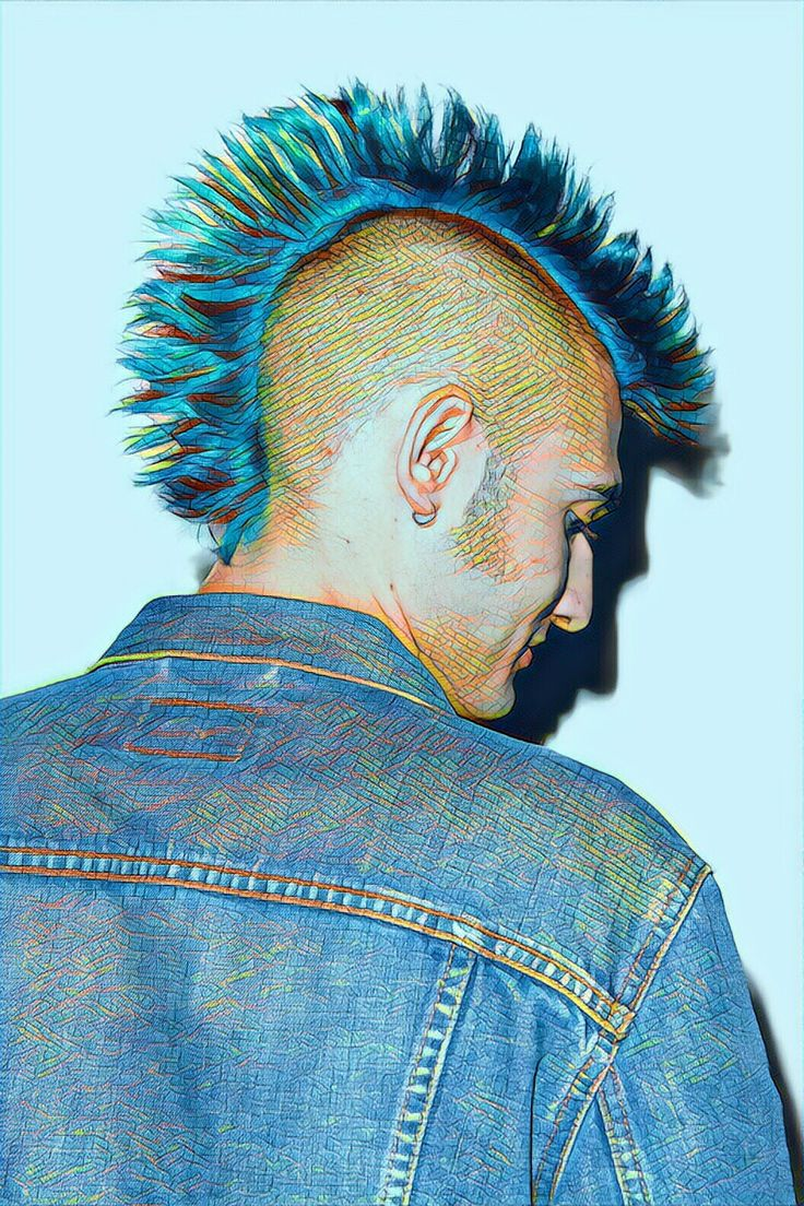 See both of my blogs at www.devilman1977.tumblr.com and www.malecollective.tumblt.com #Prisma#Filter#Men#Mohawk#Punk