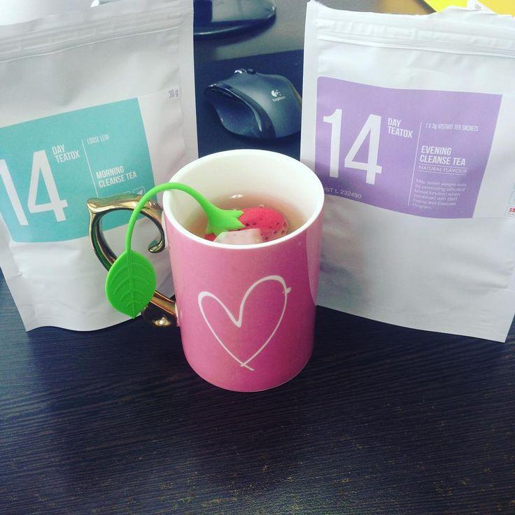 Here it goes, new skinny tea 14 day detox, smells Devine #skinnymetea #14daydetox @skinnymeteatox