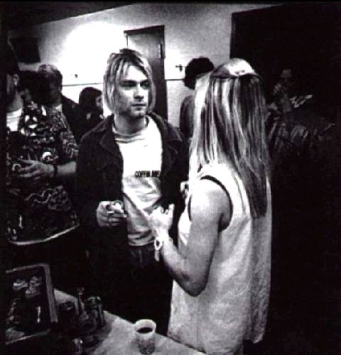 Kurt Cobain & Kim Gordon. Love these two together.cx