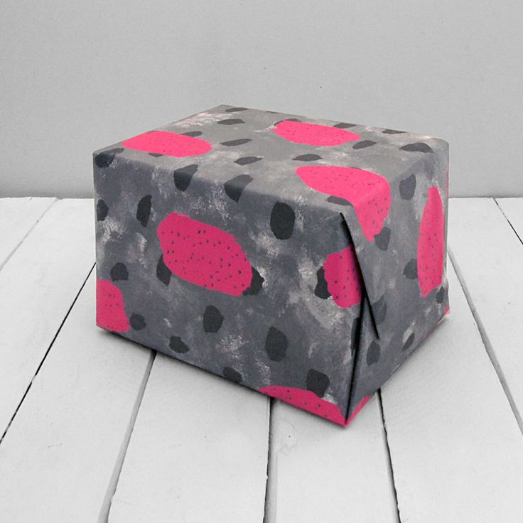 Image of Pink and Grey Wrapping Paper - 3 Large Sheets