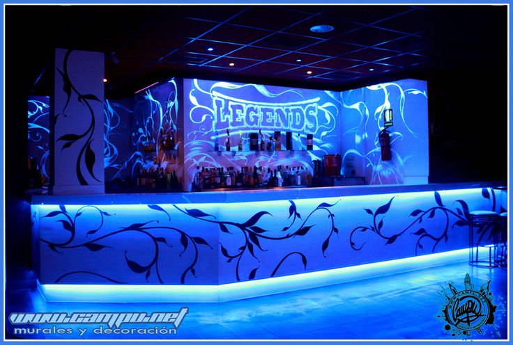decoracion de barra para discoteca Legends