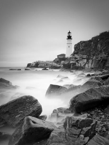 Maine, Portland, Portland Head Lighthouse, USA Photographic Print by Alan Copson at Art.com