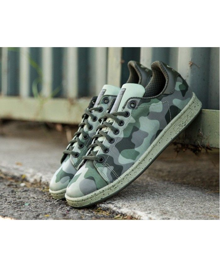 3870eb1501f Adidas Stan Smith Camo Green Trainers