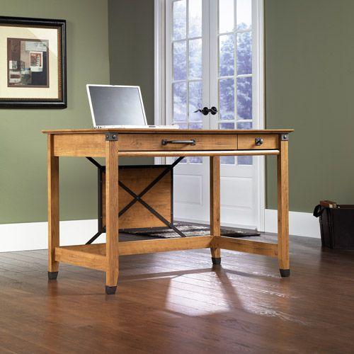 Sauder registry row writing desk amber pine furniture pinterest writing desk pine and desks - Pine office desk ...
