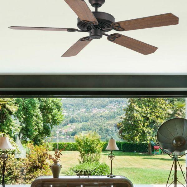 Stilvoller Deckenventilator Mauritius In Dunkelbraun Deckenventilator Ventilator Wohnzimmer Inspiration