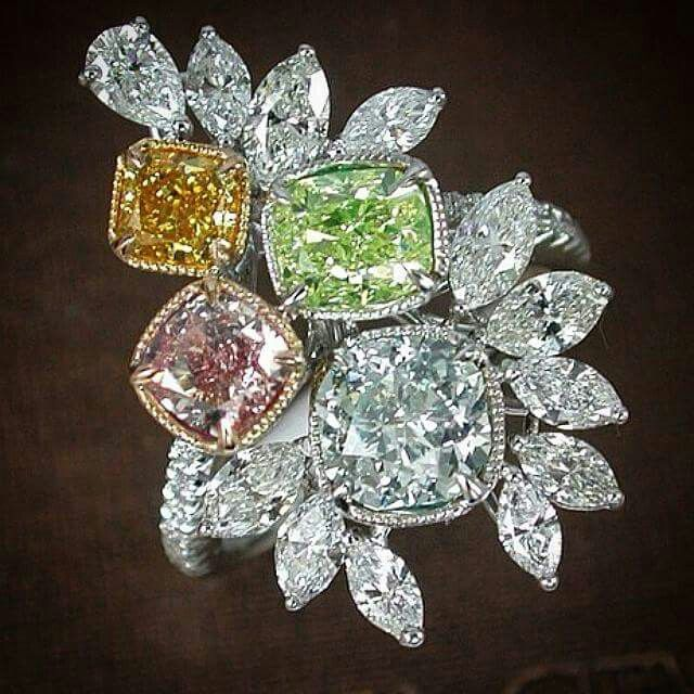 17 Best Ideas About Colored Diamond Rings On Pinterest