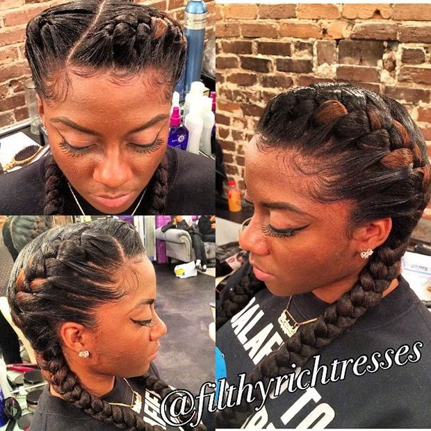 Best 25 two cornrow braids ideas on pinterest two goddess 31 goddess braids hairstyles for black women ccuart Image collections