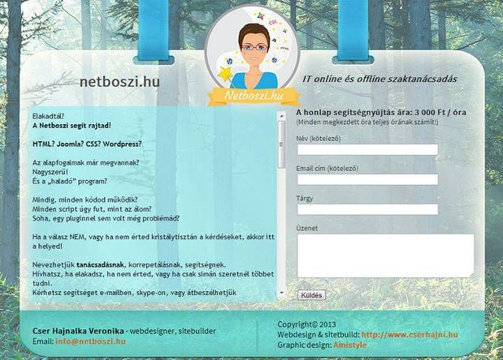 One of my own site, webdesign and sitebuild work by me