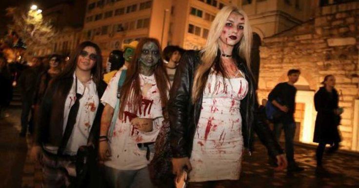 Φωτογραφίες και βίντεο από την χθεσινή παρέλαση των ζόμπι στην Αθήνα Crazynews.gr