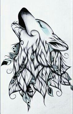 Delicate Tribal #WolfTattooIdeas