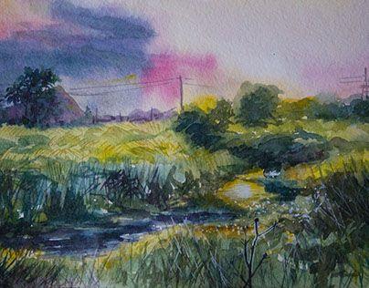 "Check out new work on my @Behance portfolio: ""Речка ""Бык"" River ""Bull"""" http://be.net/gallery/41089531/rechka-byk-River-Bull"