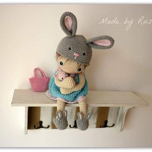 How sweet! Crochet doll.
