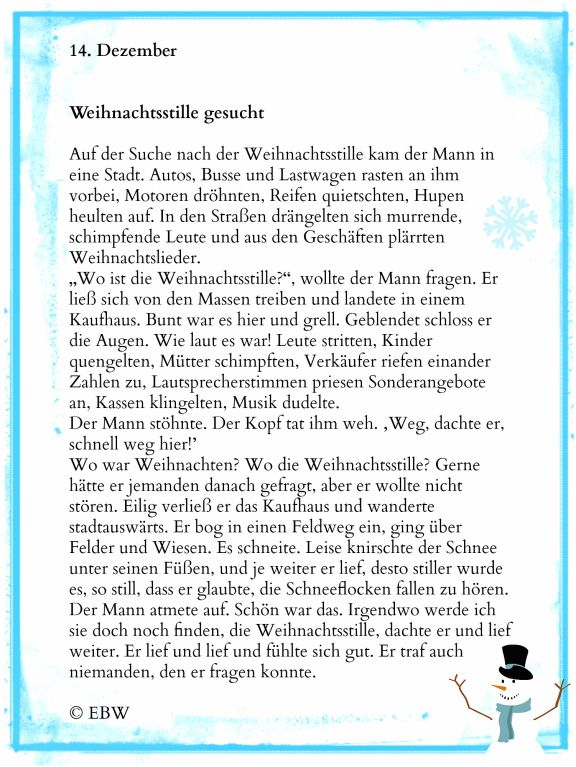 Adventskalender | Winterzeit