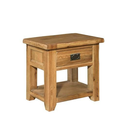 Cottage Oak 1 Drawer Bedside Table (J255) with Free Delivery | The Cotswold Company - RMK37(H)55 x (W)55 x (D)40cm £125