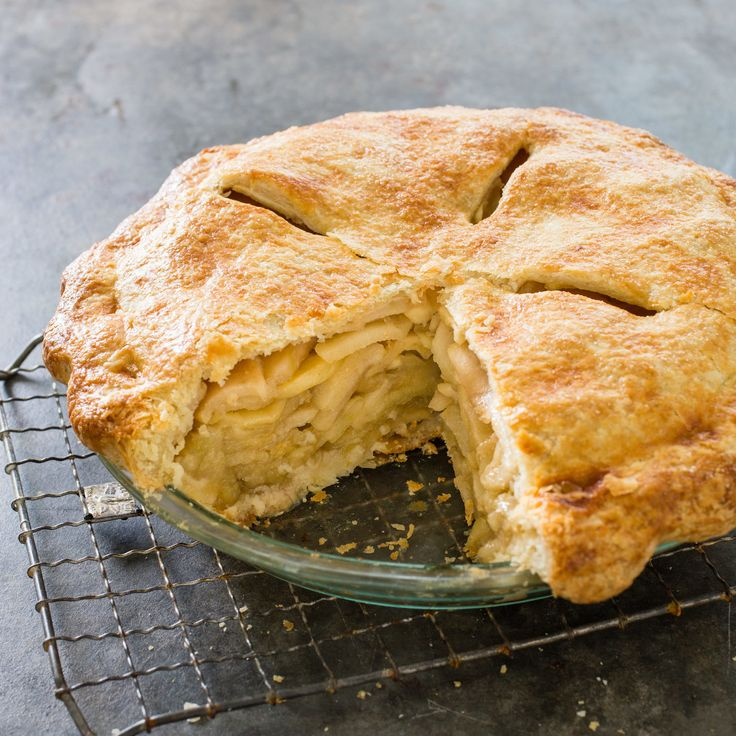 Cooks country Deep-Dish Apple Pie - pre-cook the apples to avoid an empty cavern of pie crust at the top.