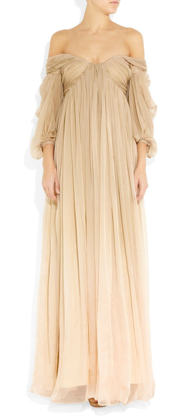 Alexander McQueen - Degradé Silk-Chiffon Gown ~ I'll take this in black, please and thank you. <3