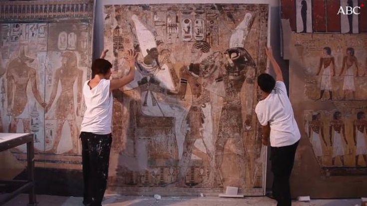 Tras 15 años de trabajo, investigación y desarrollo digital y artesanal se ha conseguido realizar el facsímil que recrea, con todo lujo de detalles, el lugar donde fue enterrado el faraón egipcio en el Valle de los Reyes