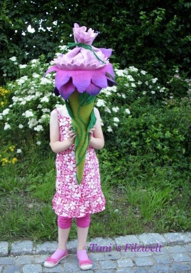 """Schultüten - Schultüte """"Filzblume"""" - ein Designerstück von TaniSan bei DaWanda"""