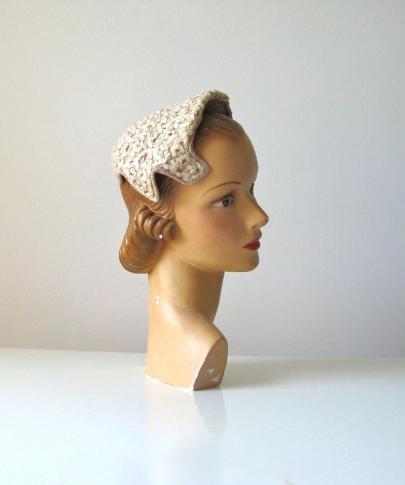 Vintage 1950s Bridal Hat 50s Wedding By Dronning On Etsy 45 00