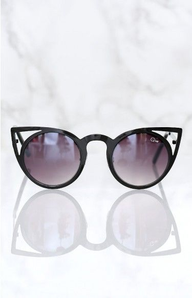 Quay Invader Sunglasses Black | Beginning Boutique | The Quay Invader Sunglasses Black will spice up any look, any day! We love the Quay Invader Sunglasses with denim shorts, a white tee and ankle boots for an effortlessly chic day look, ready to take over the world in style!