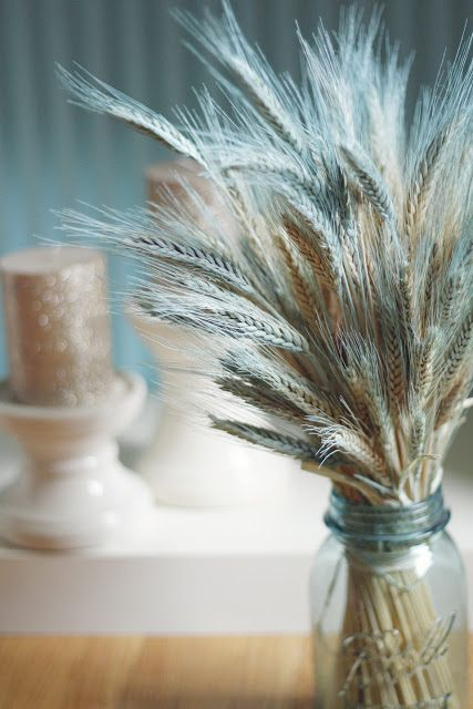 Color dusted wheat.. diy rustic decor  *use in the bathroom (teal and yellow)