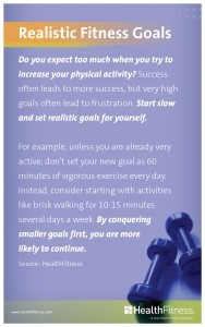 Quick tip for setting realistic fitness goals. #employeehealth
