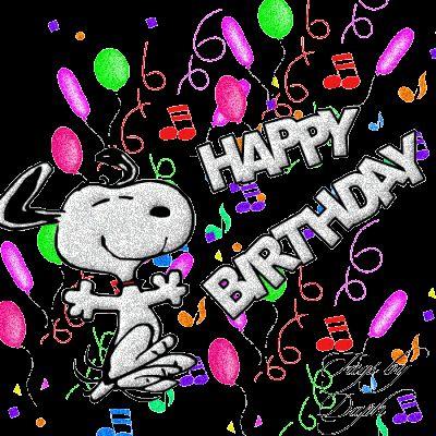 Happy Birthday, Rick! Snoopy Happy Dance!!! Yay!   Glitter Graphics