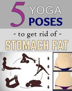 5 poses to get rid of stomach fat