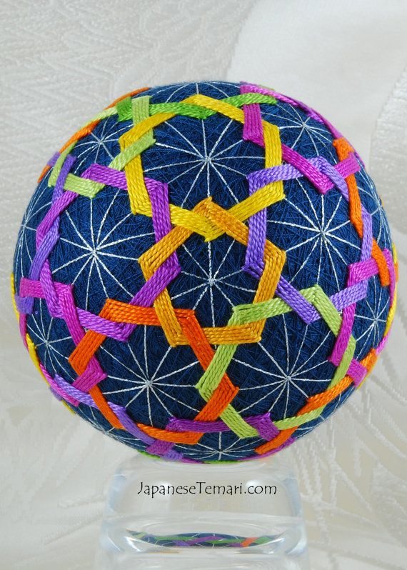 Color Play Japanese Temari Ball by Barbara B by JapaneseTemari